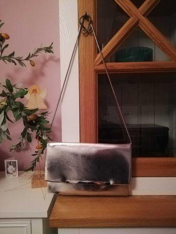 Orsay torba listonoszka srebrna torebka na pasku na ramie