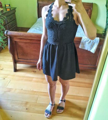 Sukienka mała czarna H&M