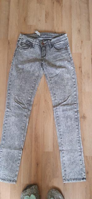 Jeansy marmurkowe