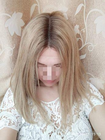 Натуральный парик с имитацией кожи славянские детские волосы