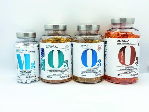 Омега3 Риб'ячий жир вітаміни, Mollers , BioSalma, Magnesium