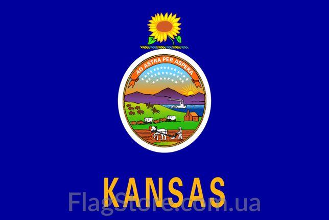 Флаг штатов Канзас, Миннесота, Вермонт 150х90 см, прапор Міннесоти