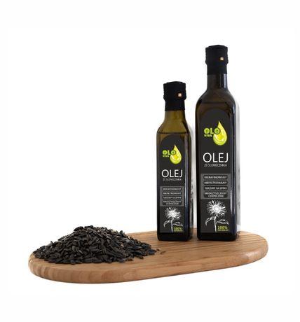 olej ze słonecznika tłoczony na zimno 500ml.