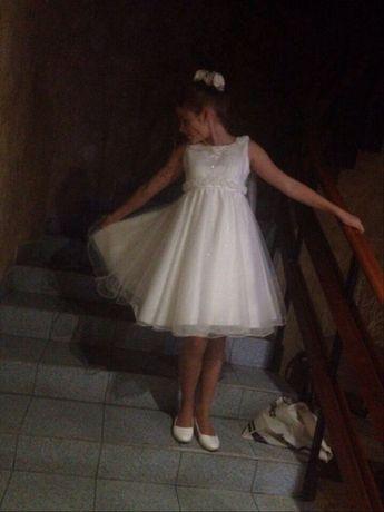 Шикарна біла сукня для дівчинки
