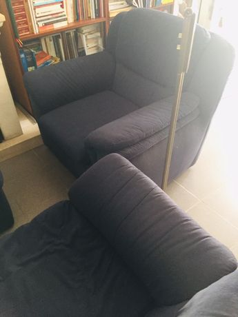 Sofá individual azul escuro