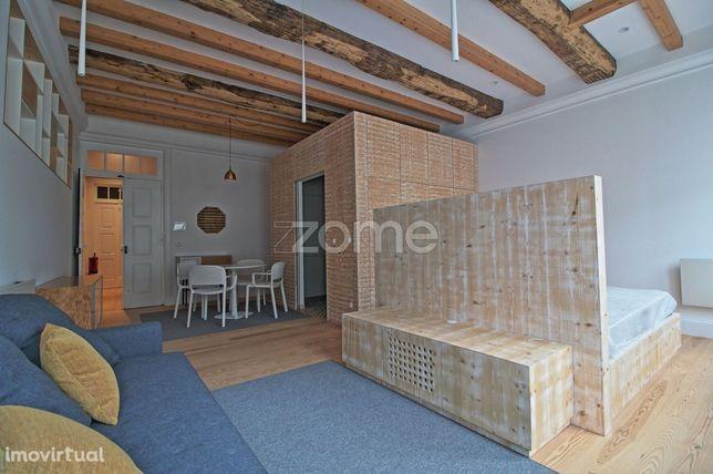 Apartamento T0, novo, para arrendamento na Sé, Braga