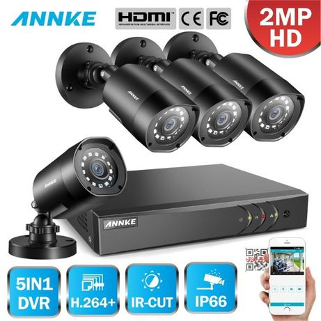 Sistema de Video Vigilância / CCTV - FullHD 1080p 2.0mpx - 4 câmaras