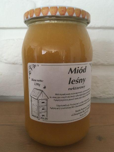 Miód naturalny z pasieki (nierozgrzewany, raw), pyłek pszczeli