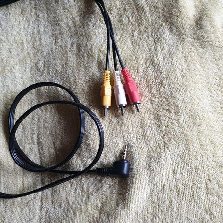 Редкий кабель штекер(папа) 3.5 мм на 3 RCA(відео и звук)