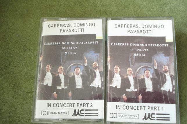 Zestaw kasety Magnetofonowych 3 szt. Koncert 3 Tenorów, L. Pavarotti