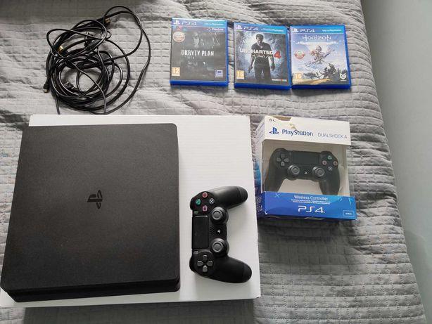 Sony PS4 500 GB Slim + pad oraz zestaw gier