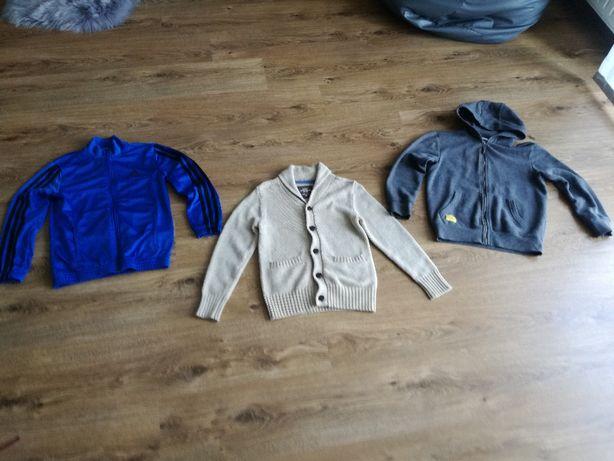 bluza Reserved, sweter H&M, bluza dresowa Adidas 122-140