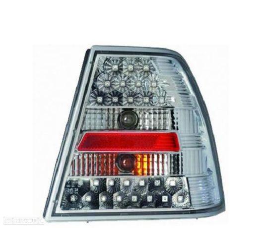 FAROLINS TRASEIROS LED VW BORA 98-05 CROMADOS