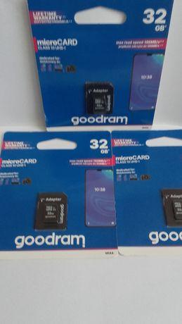 GOODRAM Karta pamięci microSDHC 32GB CL10 + adapter NOWA Gwarancja