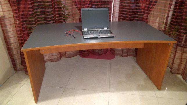 Duże biurko 160cm grafit blat