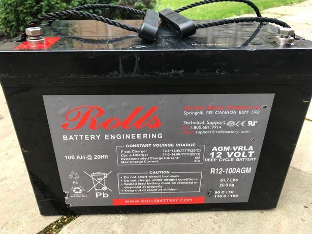 Akumulator AGM,bateria Rolls lodzie,camper,UPS,alarmy