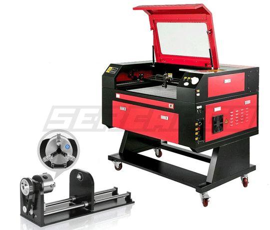 Máquina de gravação e corte a laser co2 60w + Rotary