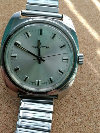 Zegarek męski Helvetia szer koperty 35 mm bez koronki.