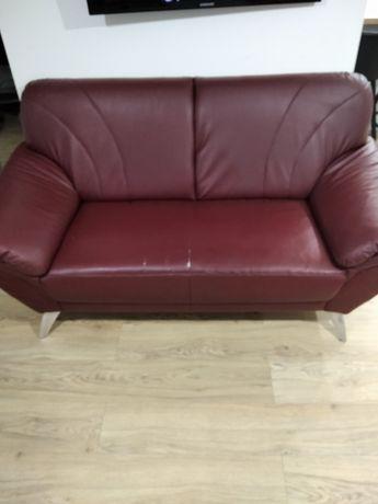 Kanapa skorzana dwu osobowa sofa