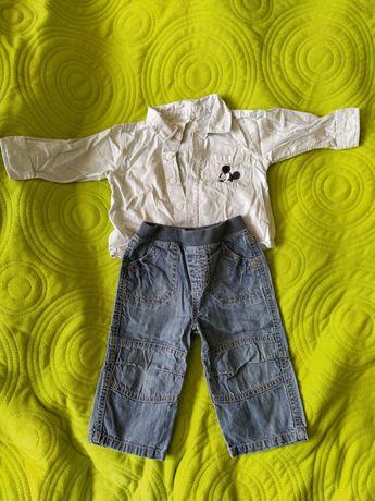 Koszula, spodnie jeans niemowlęce