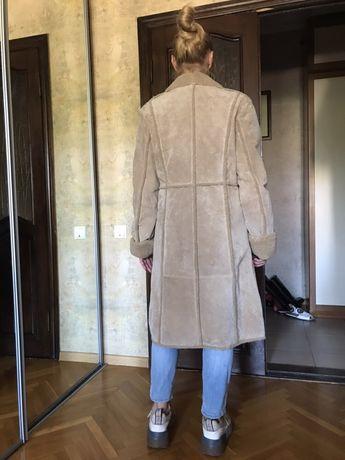 Шикарная натуральная дублёнка пальто