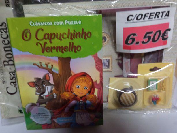 Puzzle o capuchinho vermelho + coleção casa de bonecas