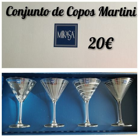 NOVO - Conjunto de Copos Martini e Balão Gin