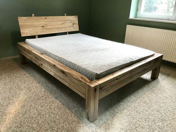 Łóżko dębowe Loft