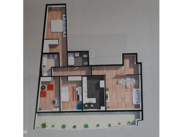 Apartamento T3 Novo com Box e Varanda nas Colinas do Cruz...