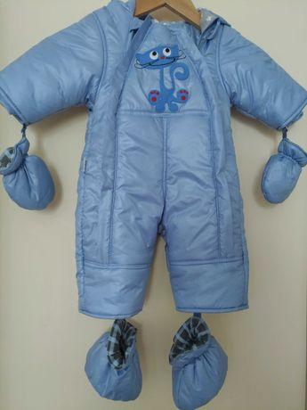 ciepły kombinezon niemowlęcy Reflex, r. 62, 100% bawełniana podszewka