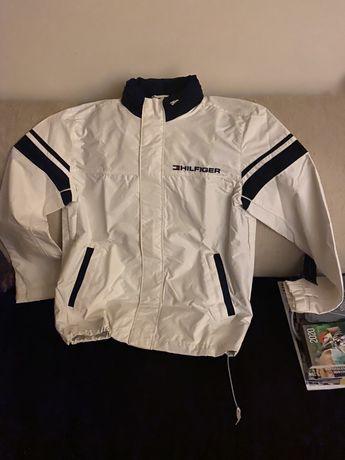 Kurtka bluza tommy hilfiger biała z kapturem