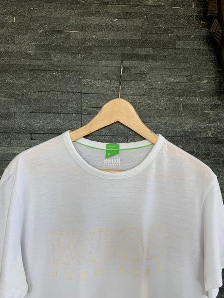 r. L / HUGO BOSS biała bluzka koszulka