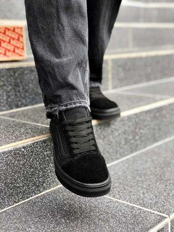 Кроссовки чисто черные Ванс Олд Скул Топ Продаж!!!
