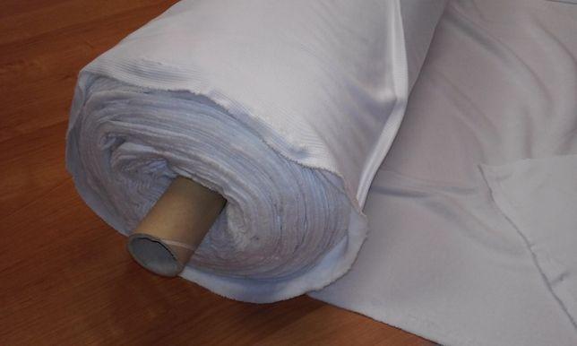 Dzianina materiał tekstylny biały kratka 3x3