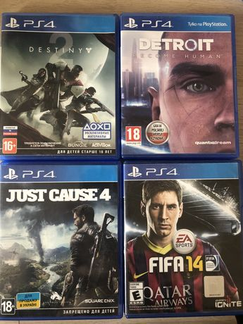 just couse 4 detroit fifa 14 destiny playstaytion 4 ps4