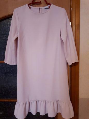 Стильное дизайнерское платье VOVK в пудровом цвете