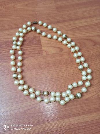 Бусы под жемчуг СССР колье ретро винтаж винтажные жемчужные ожерелье