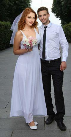 Платье греческое свадебное свободного кроя