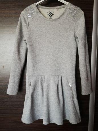 Sukienka lub Tunika z połyskiem srebrnej nitki