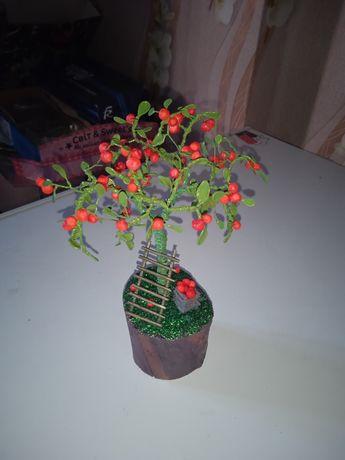 Подарок дерево из проволоки