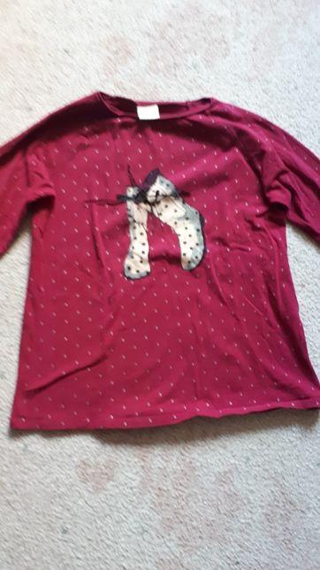 Bordowa dziewczęca bluzka z Zary.