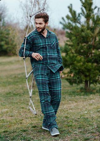 Piżama męska flanelowa L