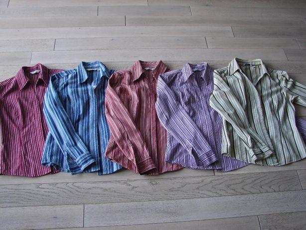 Kolorowa koszula z długim rękawem NEXT w paski 36 38 44 Zamiana