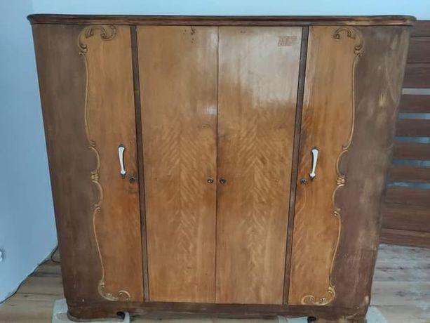 Szafa duża antyk sypialnia komplet szafki nocne i wezgłowie GRATIS