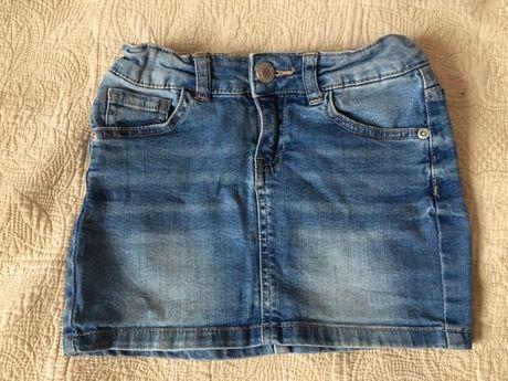 Spódnica jeans z regulacją w pasie