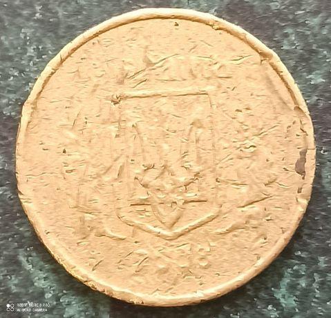 "10 коп 2008 г. - "" БРАК  "". Монета Украины."