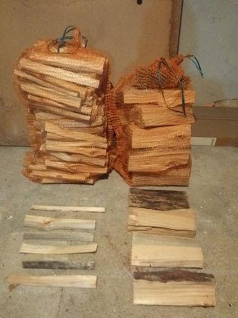 Drewno rozpałkowe i opałowe DUŻE WORKI 80x50
