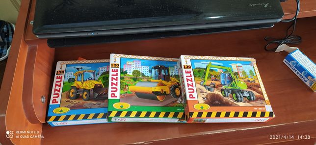 пазлы трактор(стройтехника)новый