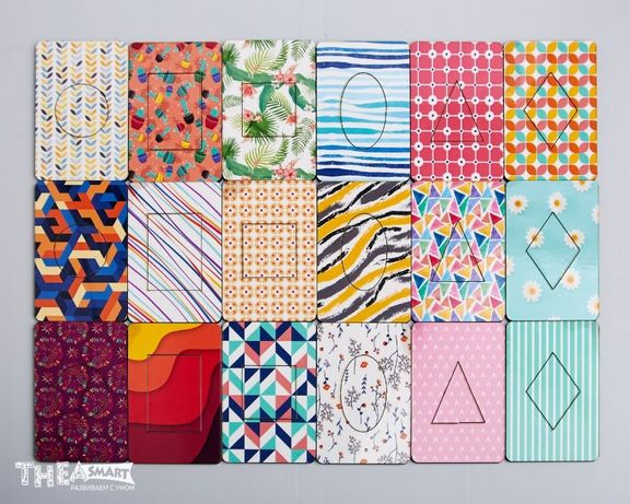 Досочки Сегена Разноцветные и однотонные деревянные игрушки Thea Smart
