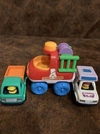 Машинки для малышей строительная техника полиция пожарная машина